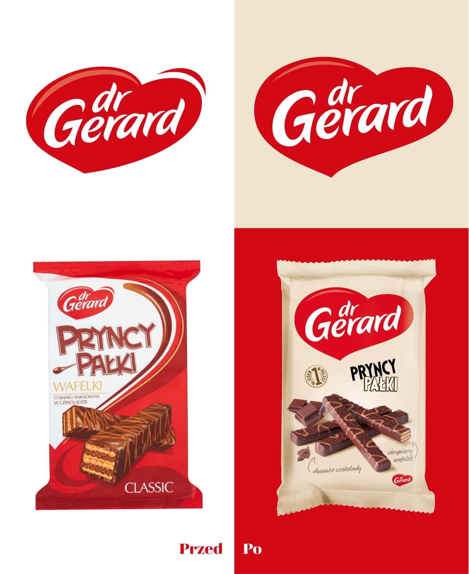 Rebranding marki przed i po - Dr Gerard
