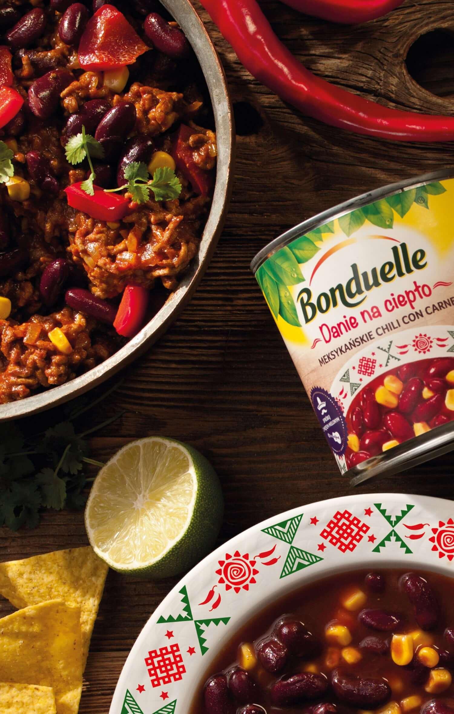 """Bonduelle - brand design linii produktów """"Dania na ciepło"""""""