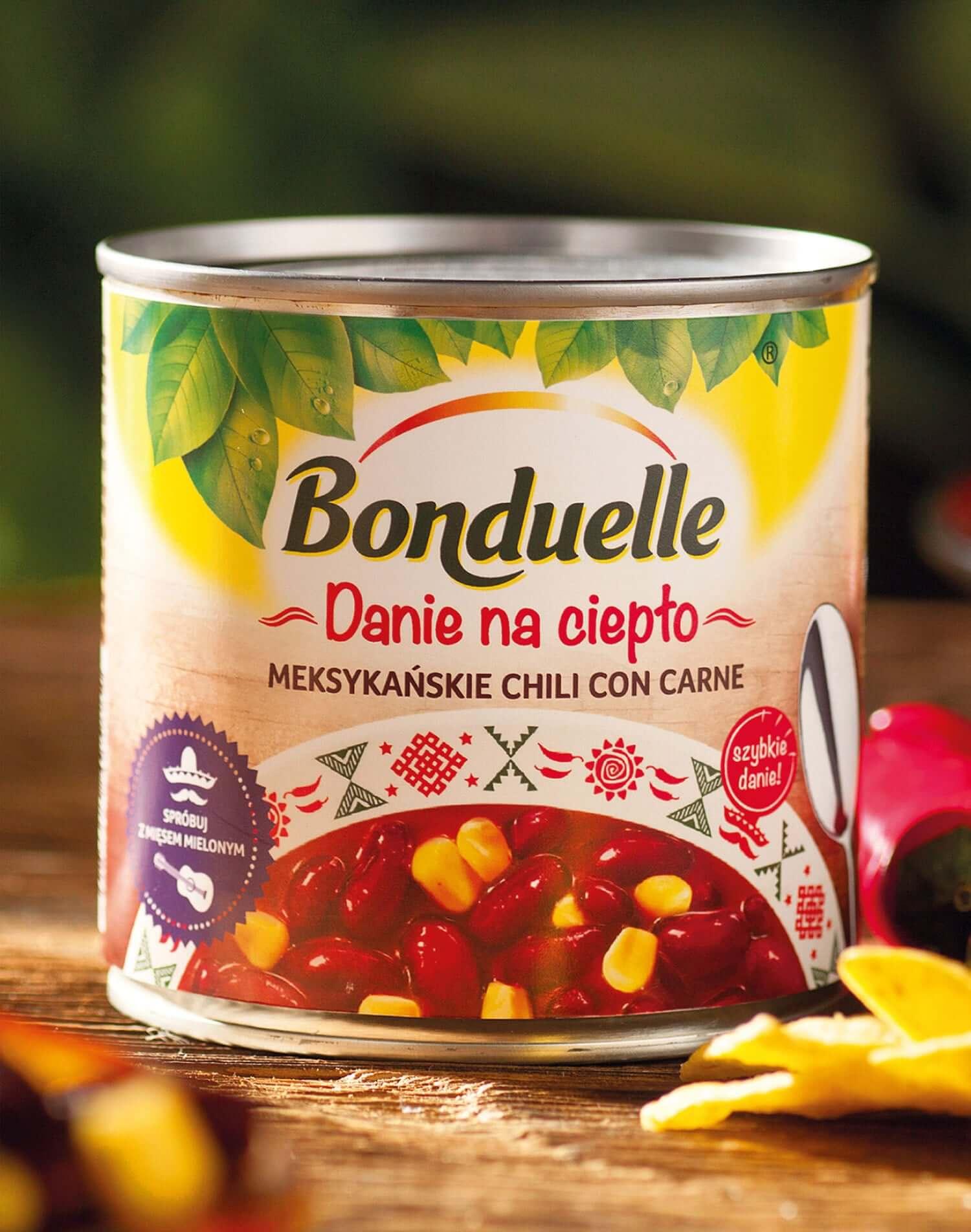 """Identyfikacja wizualna Bonduelle """"Dania na ciepło"""""""