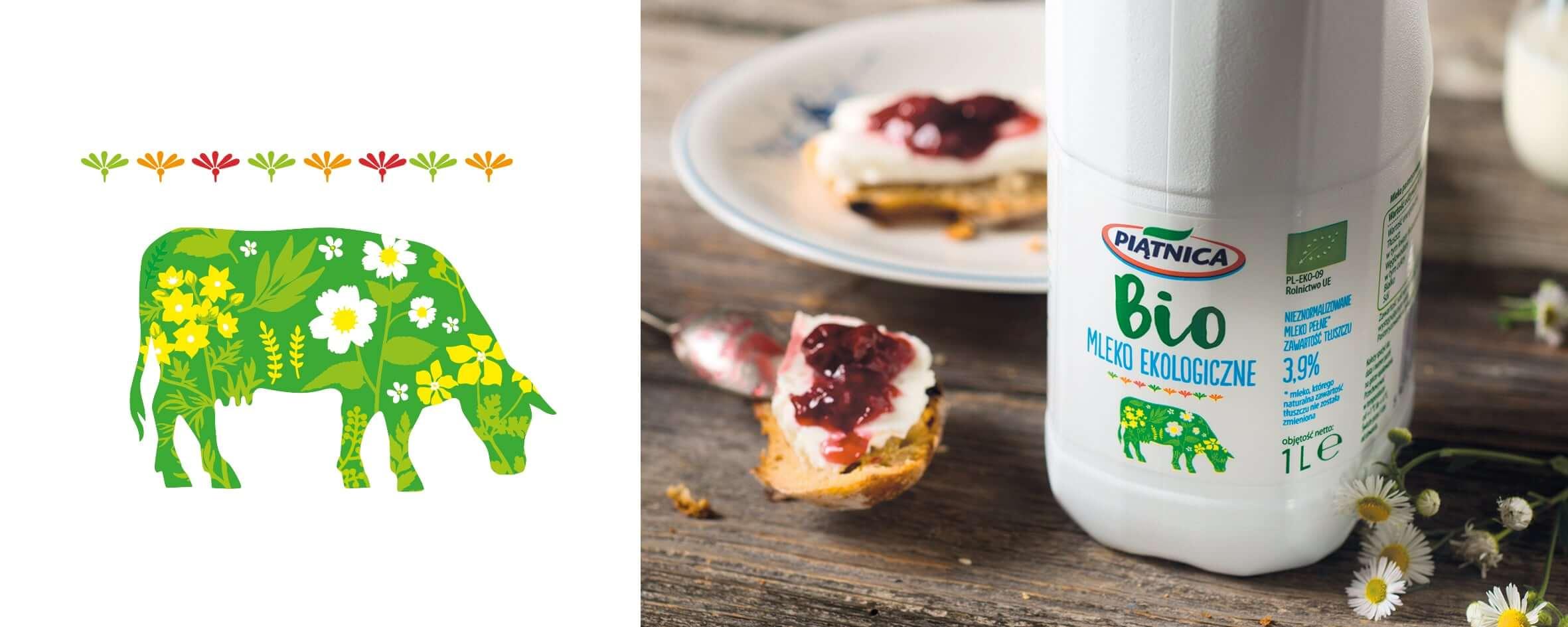 Rola ilustracji w brandingu 4/4 brand design piatnica mleko